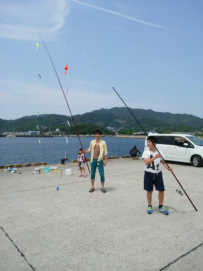 仁尾新港でサビキ釣り