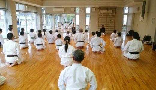岡山道場の北畠師範が健康体操を教えに