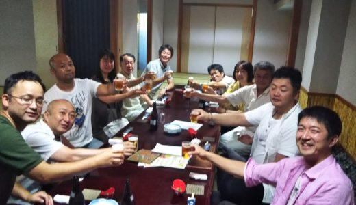 加藤さんの大会優勝の祝勝会が丸亀市の弁慶で開催