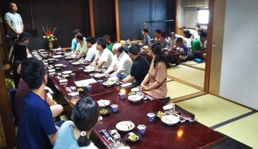 丸亀市の弁慶で夏の納会が道場生や家族37名参加で開催
