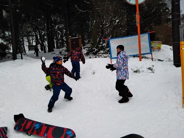 大山ホワイトリゾートで雪合戦