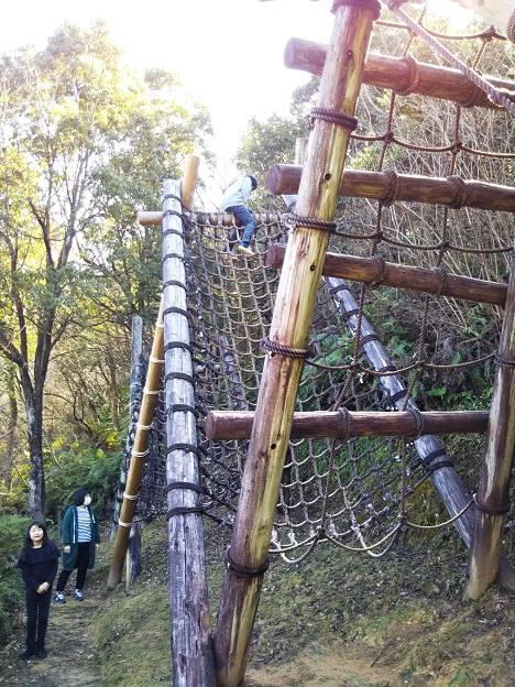 えひめ森林公園のアスレチック