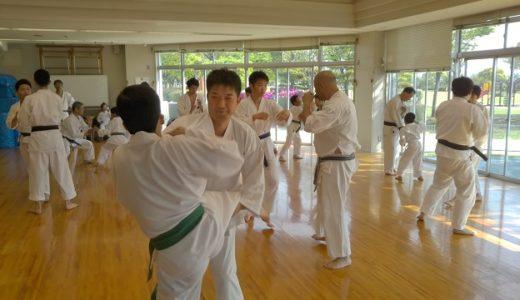 元香川大学空手道部の黒帯が出稽古に来ました