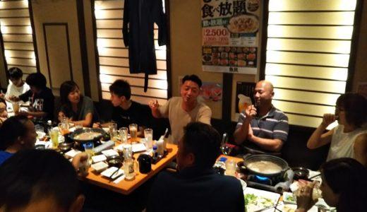 丸亀南道場の古流剛柔空手道選手権大会の打ち上げに参加