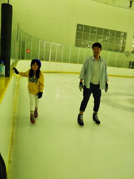 ヘルスピア倉敷でアイススケート